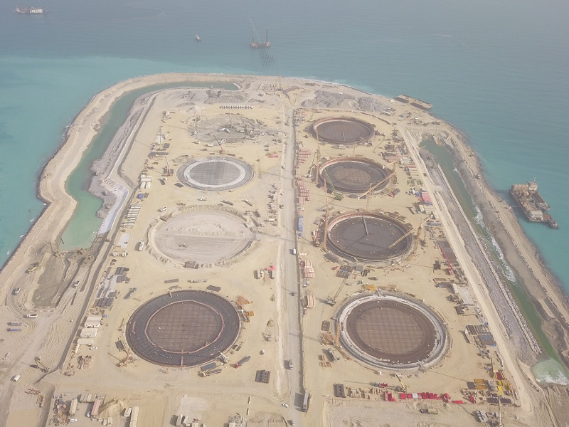 The Al-Zour LNG terminal is located in the Al-Zour region in Kuwait. Credit: ArcelorMittal Europe.