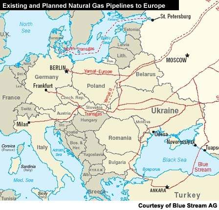 The Blue Stream Pipeline Project, Europe - Hydrocarbons Technology