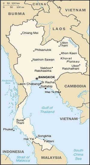 Map Ta Phut LNG Regasification Terminal, Thailand