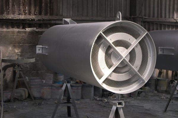 Stainless-steel industrial silencers