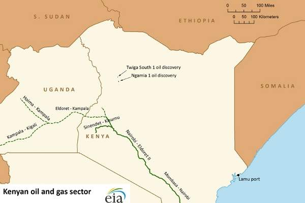 Kenya uganda oil pipeline2 hydrocarbons technology a map showing the location of the pipelines in kenya and uganda including the kenya uganda pipeline gumiabroncs Image collections