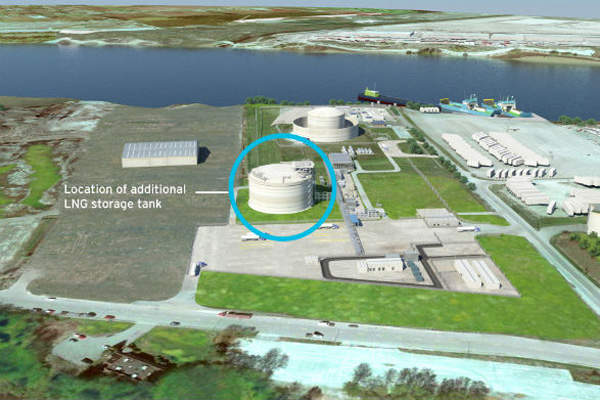 The Tilbury LNG facility expansion has increased natural gas liquefaction and storage capacity to support growing demand for LNG in British Columbia. Image: courtesy of FortisBC.