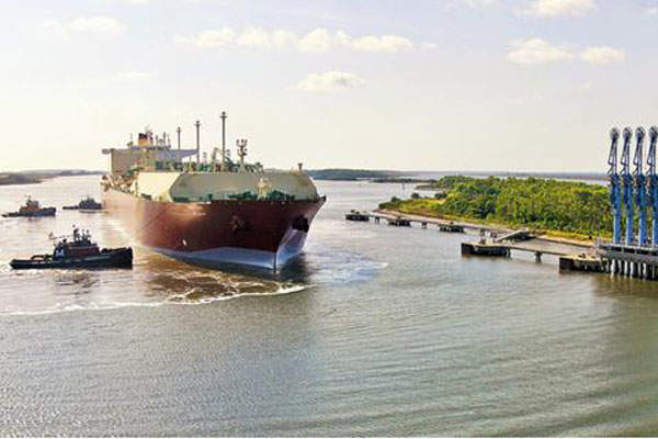 LNG will be exported using LNG vessels from the existing marine facility. Image courtesy of Southern LNG.