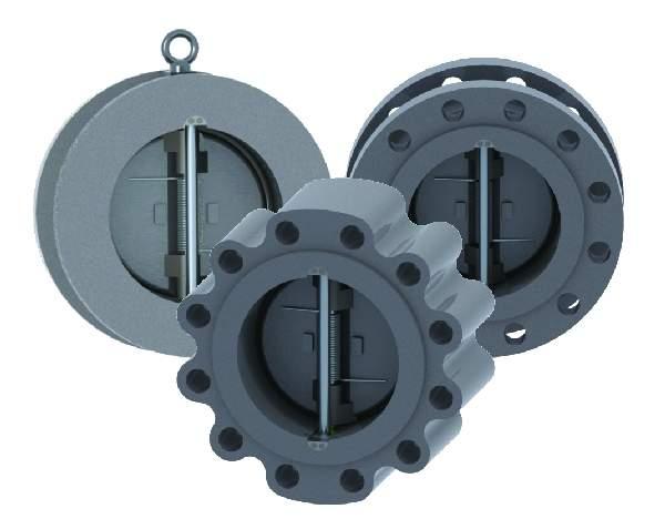 GWC dual plate check valves