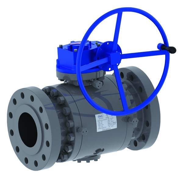 Forged body trunnion mounted ball valves