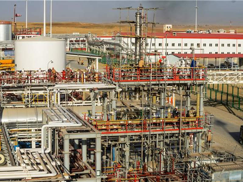 New processing and infrastructure facilities were launched at the South-west Gissar project in 2017. Image courtesy of Lukoil.
