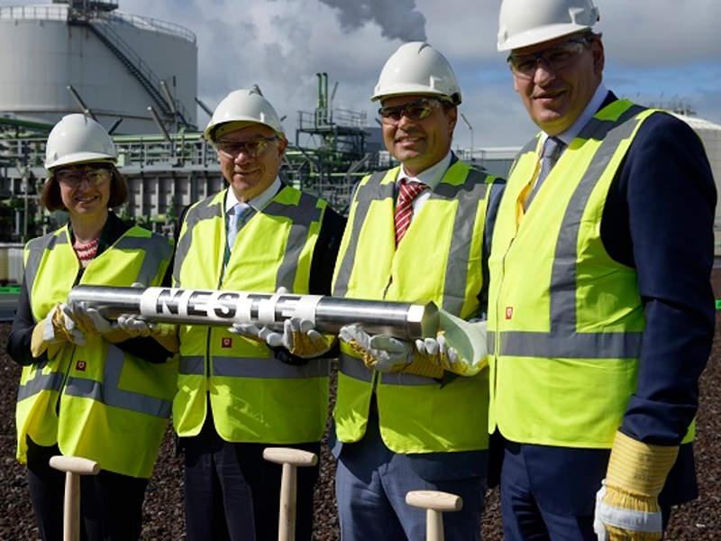 Neste broke ground on the world's first Bio LPG facility on 8 September 2015. Credit: Neste.