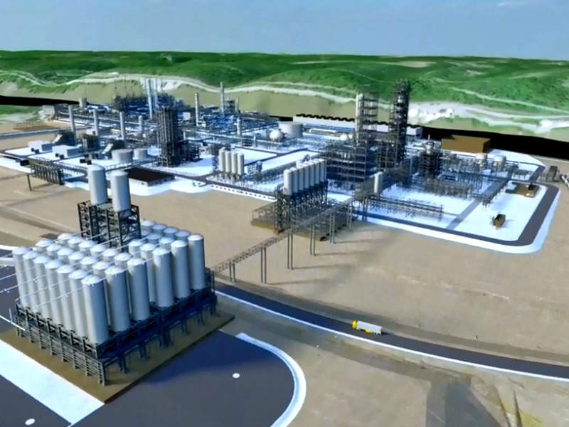 Shell's Pennsylvania petrochemical complex will use ethane from shale gas to produce 1.6Mt of polyethylene a year. Credit: Shell.