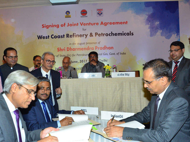 The joint venture comprising IOC, HPCL and BPCL is developing the refinery.  Credit: Indian Oil Corporation.