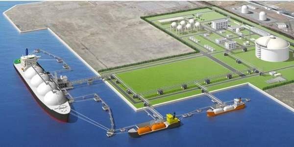 Artist's rendering of the Soma LNG terminal.