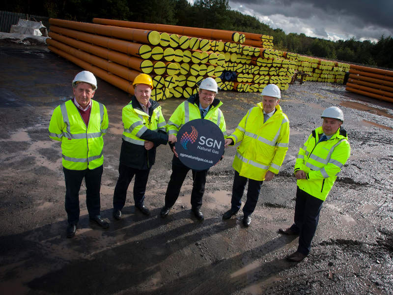Murphy International and GMC Utilities Group are conducting main works for the gas network project in Northern Ireland. Credit: Gas to the West.