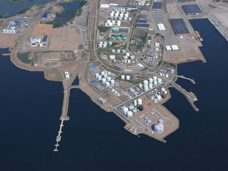 The Hamina LNG import terminal will be connected to the local gas network of Hamina and the Finnish national gas grid. Credit: Wartsila.