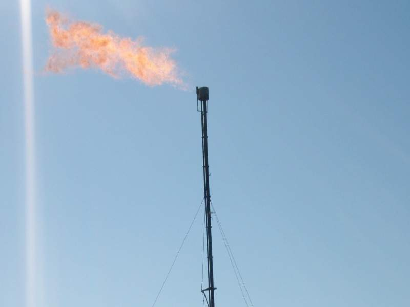 Elk Creek pipeline will help reduce flaring of excess natural gas. Image courtesy of Joshua Doubek.