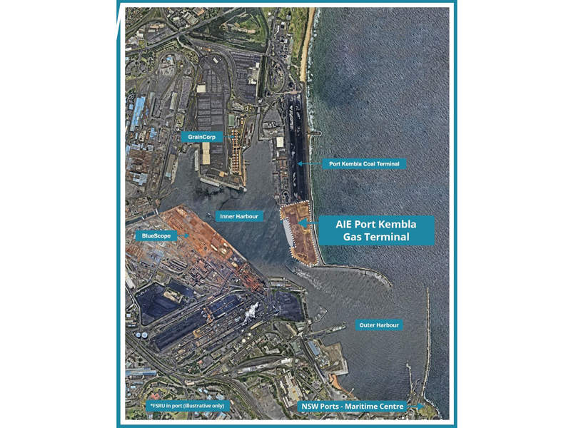 The NSW Government has granted Critical State Significant Infrastructure (CSSI) status to the LNG import terminal project. Credit: Australian Industrial Energy.