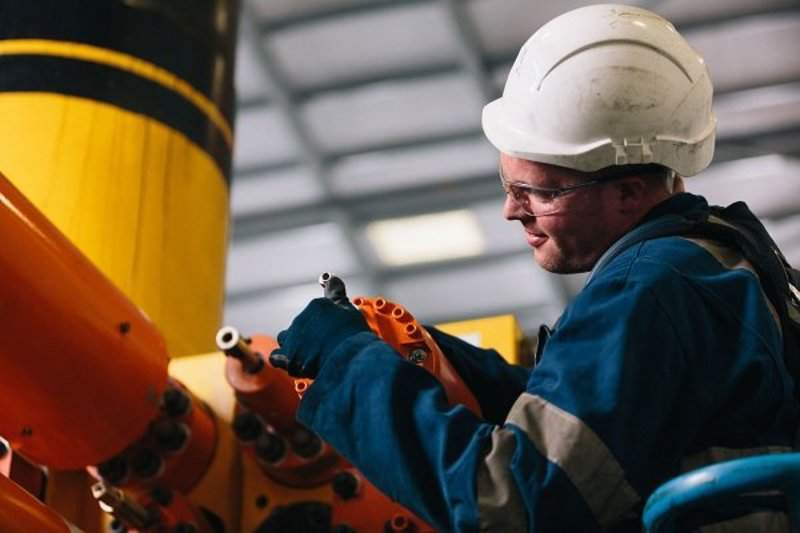 engineer working on oil and gas equipment