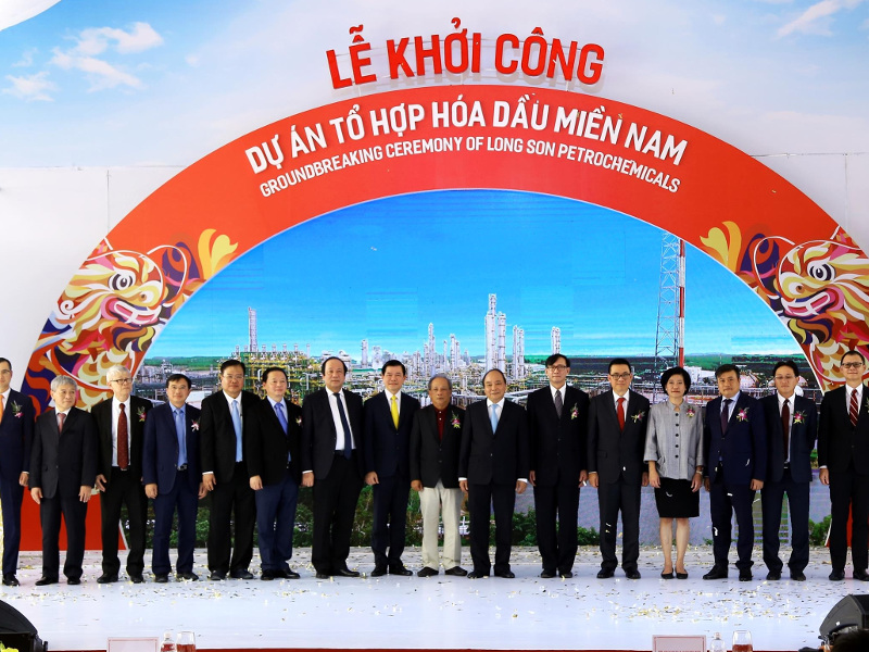 Long Son petrochemicals complex will be first integrated petrochemical complex in Vietnam, upon completion. Credit: Ba Ria - Vung Tau Foreign Affairs Department.