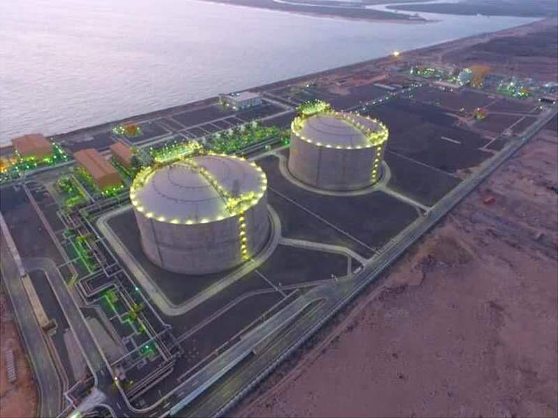Mundra LNG terminal is being developed by GSPC LNG Limited, a joint venture between Adani and GSPC. Image courtesy of ITD Cementation India Limited.