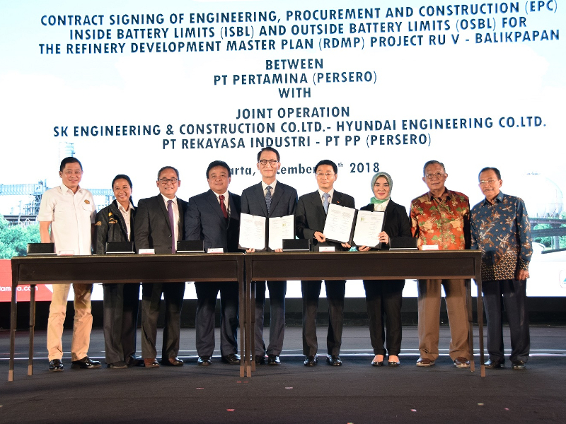 The project is being jointly executed by SK Engineering & Construction, Hyundai Engineering, PT Rekayasa Industri, and PT PP (Persero). Image courtesy of PT Rekayasa Industri (Rekind).