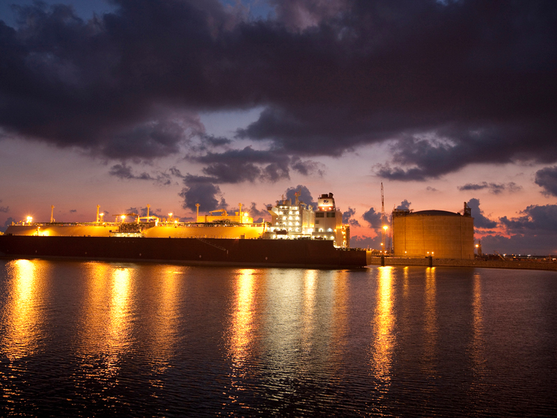 The import LNG terminal is operated by Golden Pass LNG, a joint venture of Qatar Petroleum and Exxon Mobil. Image courtesy of Golden Pass Products LLC.