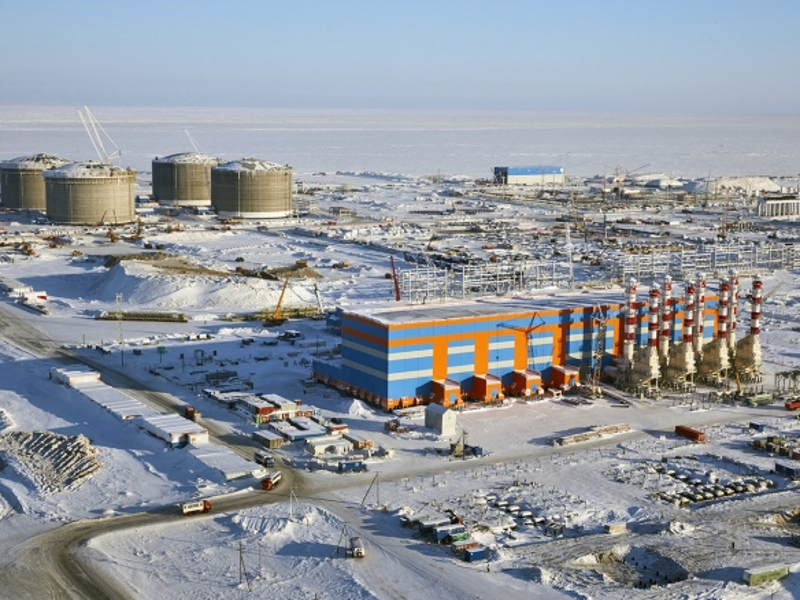 Yamal LNG project is located near Sabetta in the Yamal peninsula in Russia.  Image courtesy of Total.