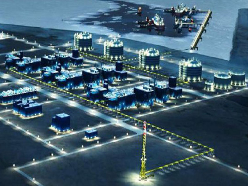 Yamal LNG project, once completely operational in 2020, will have a capacity of 17.4mtpa. Image courtesy of VINCI.