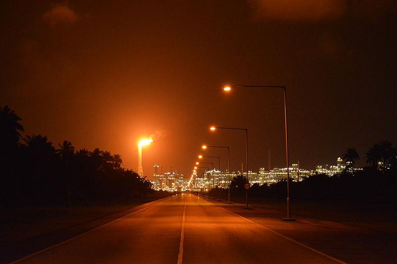 Nigeria_LNG_at_Night