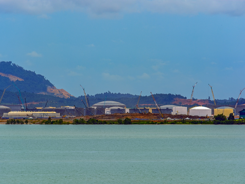Pengerang deepwater petroleum terminal is located near the RAPID refinery project.