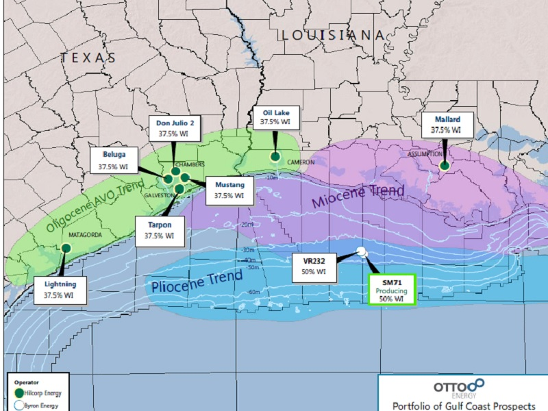 The field is jointly owned by Hilcorp Energy (62.5%) and Otto Energy (37.5%). Image courtesy of Otto Energy Limited.