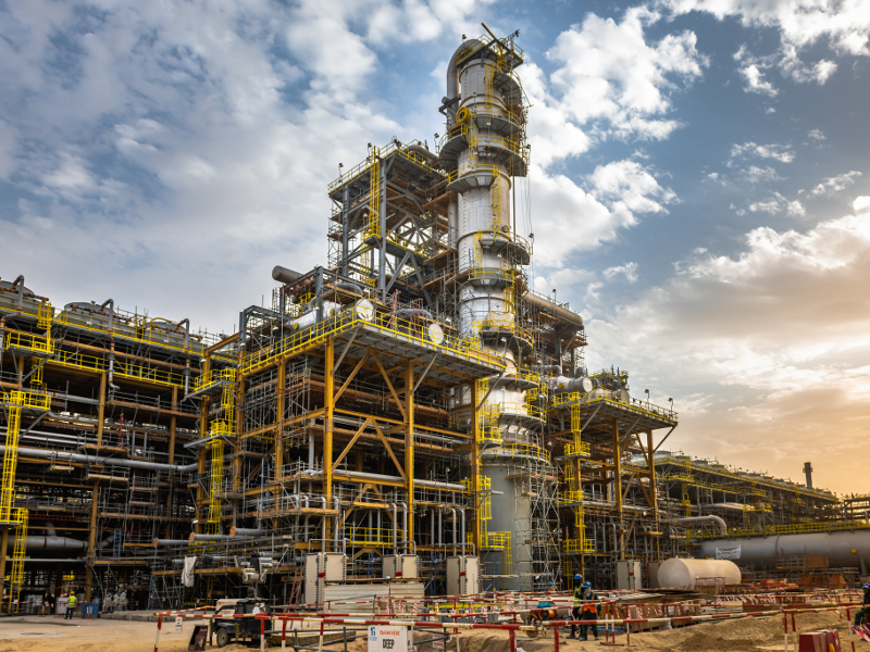 Fadhili project is a combined cycled gas power plant located 30km west of Jubail Industrial City, Saudi Arabia. Credit: Saudi Arabian Oil Company.