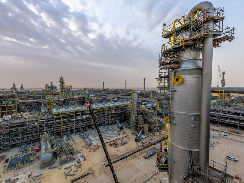 The plant started operation in February 2019. Credit: Saudi Arabian Oil Company