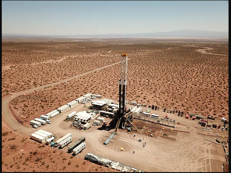 Vaca Muerta field is being developed by YPF, Argentina's state-owned oil and gas company. Image courtesy of Shell.