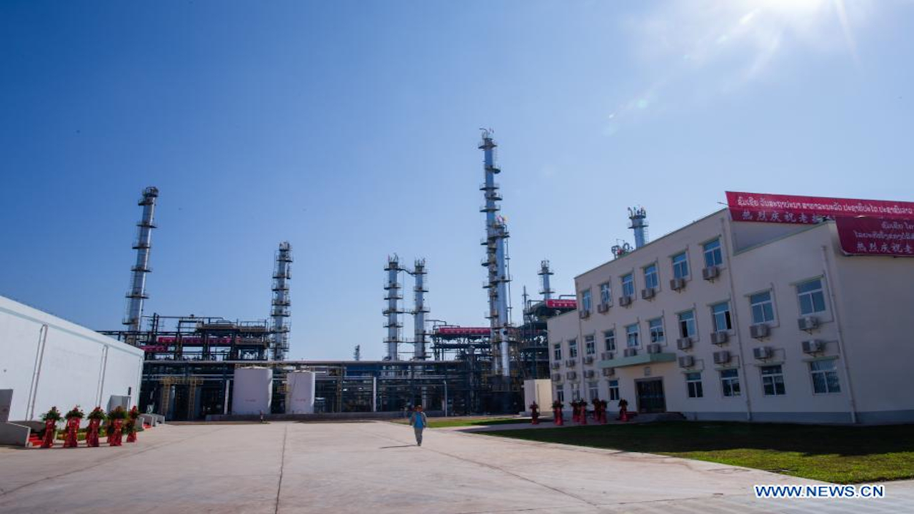 Laopec Oil Refinery is being developed in the Saysettha Comprehensive Development Zone of Vientiane, Laos. Credit: Kaikeo Saiyasane / Xinhua.