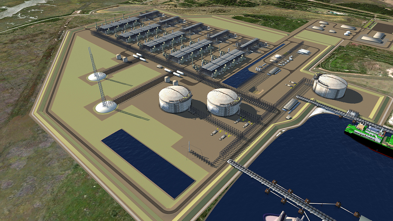 The Driftwood LNG production and export terminal will be developed on the west bank of the Calcasieu River, near Lake Charles, Louisiana on the Gulf Coast of the US. Graphic: Business Wire.