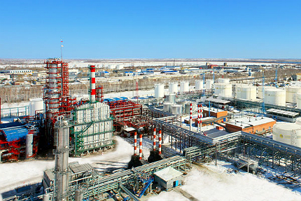 The refinery is strategically located in an industrial area in the south-eastern part of the city