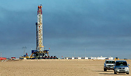 The Rumaila oil field is one of the largest oil fields in the world. It is located near Basra and about 20 miles from the Kuwaiti border in southern Iraq.