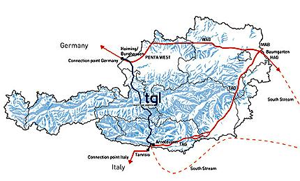 The Tauern Gas Pipeline is being developed by Tauern Gas Leitung