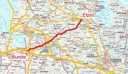 Bunde-Etzel Pipeline (BEP) is a 37-mile long natural gas export pipeline that connects the gas storage facilities in Etzel, Germany, to Bunde, located on the German / Netherlands border.