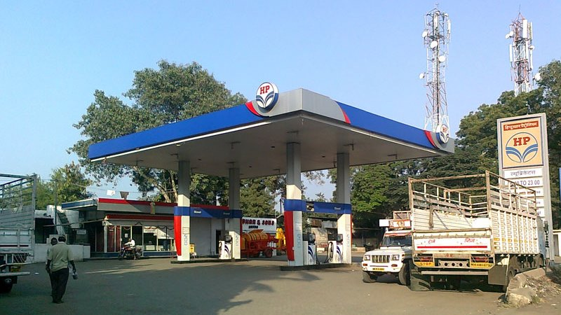HP oil garage in India